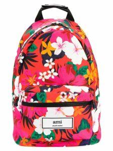 Ami Paris Zipped Backpack - PINK