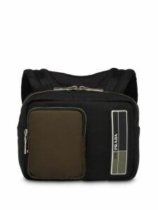 Prada technical fabric backpack - Black