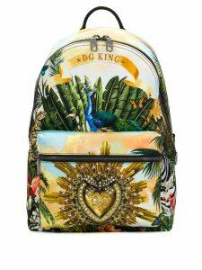 Dolce & Gabbana DG King printed backpack - Yellow