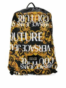 Versace Jeans Couture brocade print backpack - Yellow