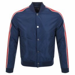 Michael Kors Stripe Baseball Jacket Navy