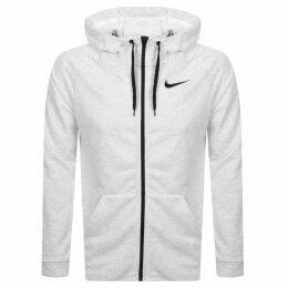 Nike Training Full Zip Logo Hoodie White