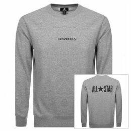 Converse All Star Logo Sweatshirt Grey