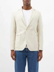 Maison Margiela - Fusion Hand Painted Leather Low Top Trainers - Mens - White Multi