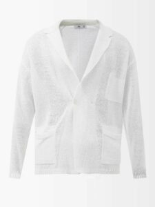 Valentino - Logo Printed Hooded Stretch Cotton Sweatshirt - Mens - Grey