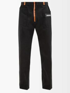 Helmut Lang - Tie Dye Cotton Sweatshirt - Mens - Orange Multi