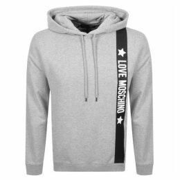 Love Moschino Logo Hoodie Grey
