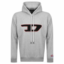 Diesel Division D Logo Hoodie Grey