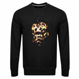 PS By Paul Smith Crew Neck Skull Sweatshirt Black