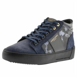 Android Homme Propulsion Suede Mid Trainers Navy