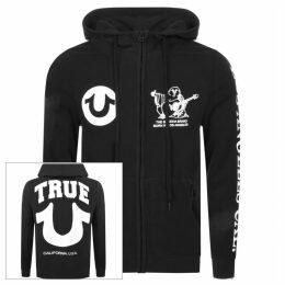 True Religion Logo Full Zip Hoodie Black