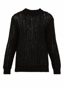 Calvin Klein 205w39nyc - Loose Knit Cotton Sweater - Mens - Black