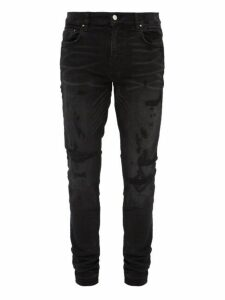 Amiri - Bruise Distressed Skinny Fit Jeans - Mens - Black