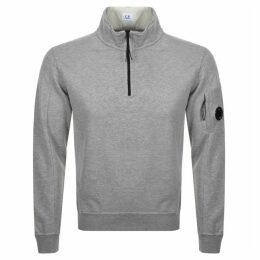 CP Company Goggle Half Zip Sweatshirt Grey