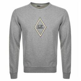CP Company Crew Neck Logo Sweatshirt Grey