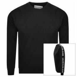 Calvin Klein Jeans Logo Crew Neck Sweatshirt Black