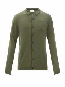 Valentino - Logo Print Cotton Blend Sweatshirt - Mens - Grey