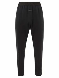 Valentino - Contrast Stripe Wool Blend Trousers - Mens - Navy