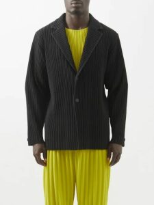 Neil Barrett - Fire Lightning Bolt Neoprene Sweatshirt - Mens - Black