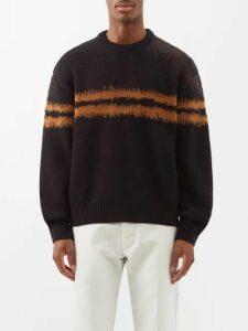 Paul Smith - Crew Neck Merino Wool Sweater - Mens - Dark Grey