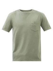 Helmut Lang - Ribbed Knit Wool And Cotton Blend Sweater - Mens - Khaki