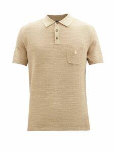 Palm Angels - Logo Print Jersey Sweatshirt - Mens - Black