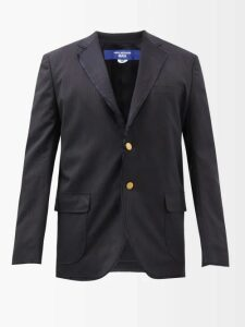 Palm Angels - Logo Print Cotton Chenille Track Jacket - Mens - Brown