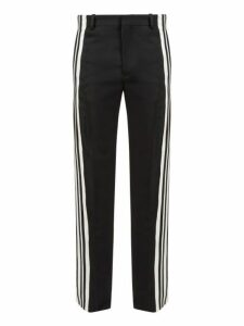 Balenciaga - Side Striped Stretch Twill Trousers - Mens - Black White