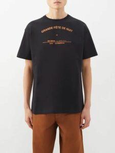 Eckhaus Latta - Contrast Panel Cotton Hooded Sweatshirt - Mens - Brown White