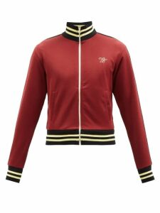 Maison Margiela - Leather Elbow Patch Cotton Sweatshirt - Mens - Grey