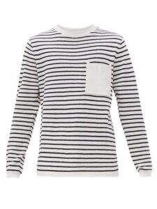 Saturdays Nyc - Kevin Striped Cotton Blend Sweater - Mens - White