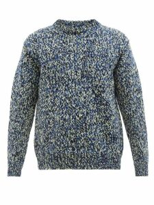 Paul Smith - Floral Intarsia Lambswool Sweater - Mens - Blue Multi