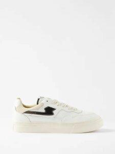 Maison Margiela - Contrast Panel Straight Leg Jeans - Mens - Indigo
