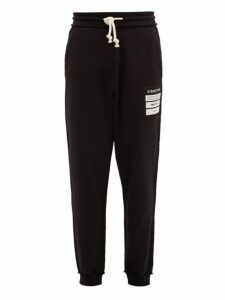 Maison Margiela - Stereotype Cotton Jersey Track Pants - Mens - Black