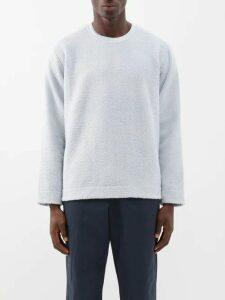 Marcelo Burlon - Wings Print Cotton Hooded Sweatshirt - Mens - Black Blue