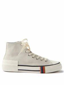 Etro - Paisley Print Cotton Twill Trousers - Mens - Blue