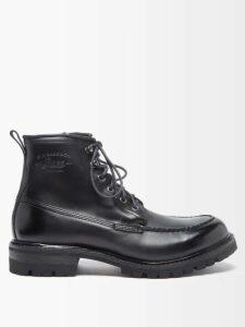 Maison Margiela - Suede Elbow Patch Cotton Blend Jersey Sweater - Mens - Black