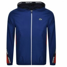 Lacoste Sport Full Zip Hooded Jacket Blue