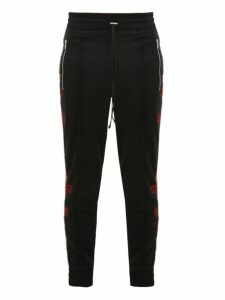 Amiri - Dragon Embroidered Track Pants - Mens - Black