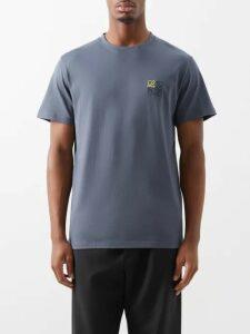 Palm Angels - Logo Print Zip Through Hooded Track Jacket - Mens - Black