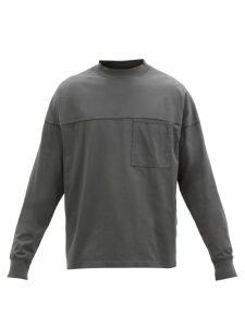 Maison Margiela - Elbow Patch Wool Blend Sweater - Mens - Black