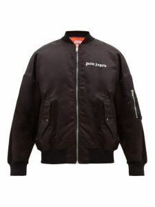 Palm Angels - Logo Printed Bomber Jacket - Mens - Black