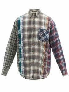 Etro - Mosaic Print Cotton Blend Slim Leg Trousers - Mens - Blue