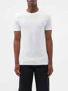 Off-white - Bleached Distressed Slim Leg Jeans - Mens - Multi