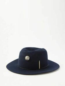 Palm Angels - Side Stripe Cotton Blend Velour Track Pants - Mens - Blue