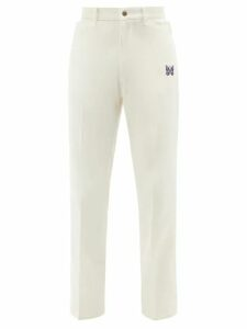 Balmain - Logo Print Cotton Sweatshirt - Mens - Navy