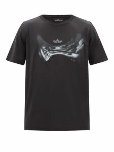 Balmain - Logo Jacquard Cotton Blend Hooded Sweatshirt - Mens - Grey