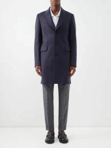 Maison Margiela - Elbow Patch V Neck Cotton Blend Sweater - Mens - Grey