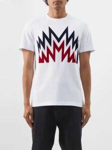 Ami - Logo Appliqué Jersey Track Pants - Mens - Navy
