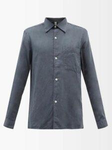 Off-white - Logo Intarsia Mohair Blend Sweater - Mens - Black Multi